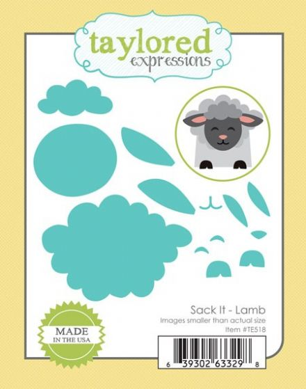 TE518 ~ SACK IT - LAMB ~ dies by Taylored Expressions